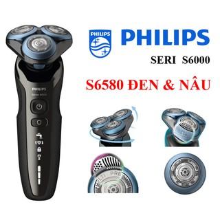 [Mã COS0404 giảm 8% đơn 300K] Máy cạo râu Philips Seri 6000 – S6580 (màu Đen & Nâu Đậm)