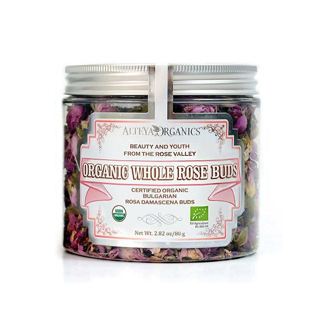 Trà Nụ Hoa Hồng Hữu Cơ Alteya organics - Organic Whole Rose Buds 80g
