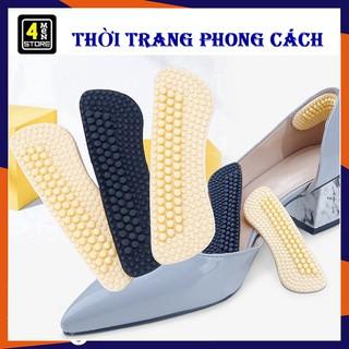 Siêu Êm Miếng Lót Giày 4D Chống Đau Gót Chân Cao Cấp - Miếng lót gót giày silicon 4 D chống trầy chân thumbnail