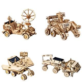 Robotime Solar Energy Toys Model Building Kit Space Hunting Assembly Toys For Children Kids