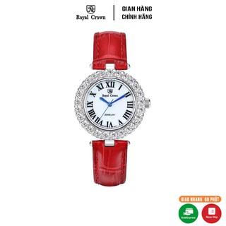 Đồng hồ nữ chính hãng Royal Crown 6305 dây da đỏ