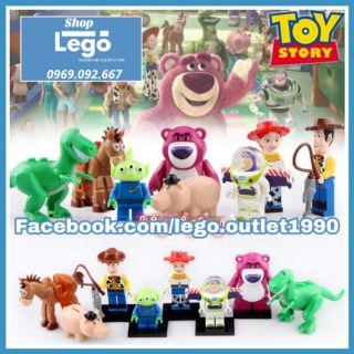 Xếp hình Toy Story : Câu chuyện đồ chơi Buzz Lightyear – Woody – Jessie Lego Minifigures POGO PG8222