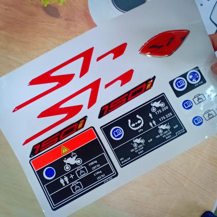 Tem nổi xe honda SH150i màu đỏ siêu thể thao - A266