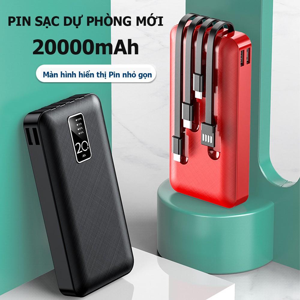 Sạc dự phòng YM-20000mAh, tích hợp 4 chân sạc đa năng phù hợp cho tất cả các dòng điện thoại- Bảo hành 6 tháng