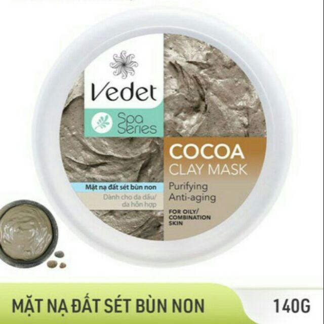 Mặt nạ đất sét bùn non Vedet Spa Series Clay Mask Cocoa - 14274383 , 2578625861 , 322_2578625861 , 80000 , Mat-na-dat-set-bun-non-Vedet-Spa-Series-Clay-Mask-Cocoa-322_2578625861 , shopee.vn , Mặt nạ đất sét bùn non Vedet Spa Series Clay Mask Cocoa