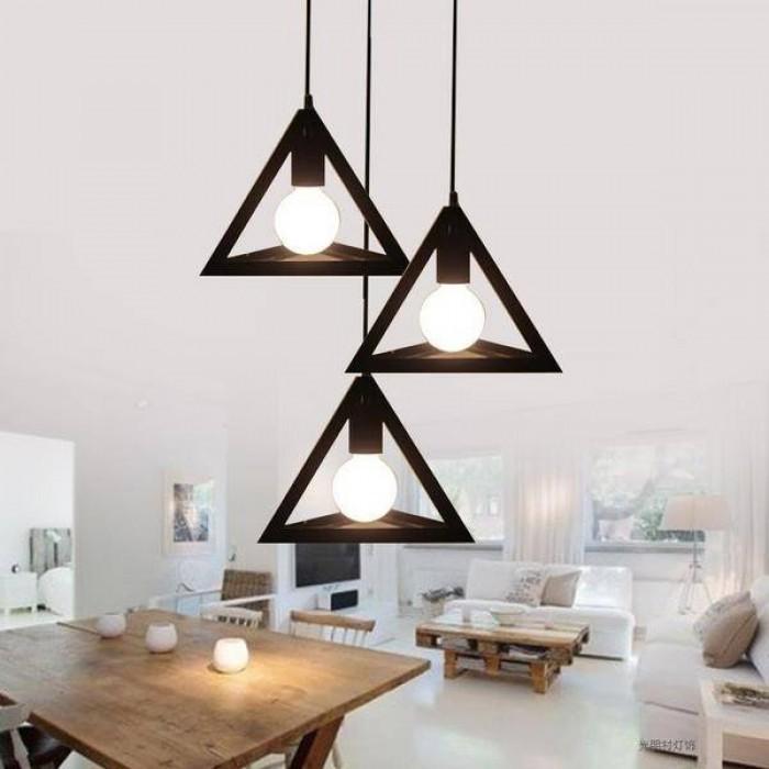 {COMBO} Bộ 3 đèn thả khối tam giác trang trí nhà, quán cafe, cửa hàng thời trang