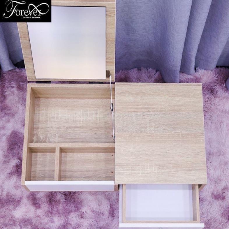 Bàn trang điểm ngồi bệt mini - Chất liệu gỗ MDF phủ melanin cao cấp - BẢO HÀNH 12 THÁNG