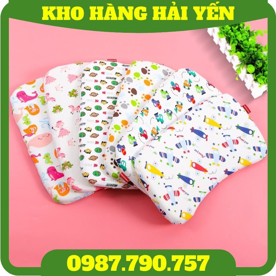 [Siêu Êm] Gối cao su non tự nhiên siêu mềm chống bẹp đầu nhiều họa tiết ngộ nghĩnh cho bé yêu (Made in Việt Nam)