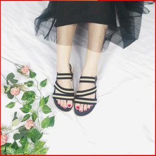 Giày sandal nữ đi học - FreeShip - Giày sandal nữ đi học quai hậu, đế nhựa PU cao 2p mang đi làm đi học đi chơi -TB4QUAI thumbnail