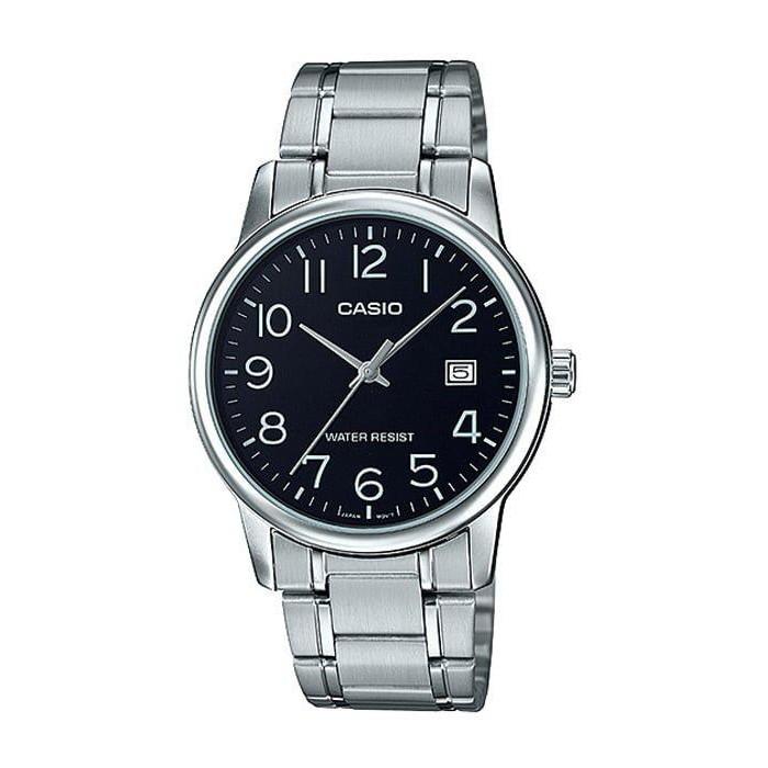 Đồng hồ nam dây thép không ghỉ chính hãng Casio MTP-V002D-1BUDF