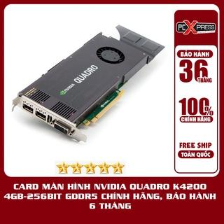 Card màn hình Nvidia Quadro K4200 4GB-256BIT GDDR5 chính hãng, bảo hành 6 tháng thumbnail