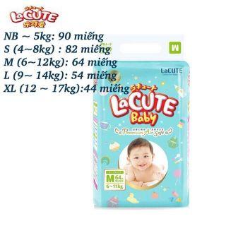 Bỉm dán lacute baby szNB90,XL44
