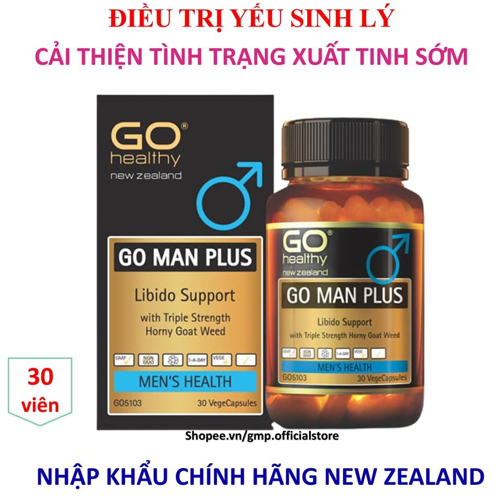 Viên uống tăng cường sinh lý GO Man Plus cải thiện tình trạng xuất tinh sớm rối loạn cương dương nhập khẩu NEW ZEALAND - Hộp 30 viên