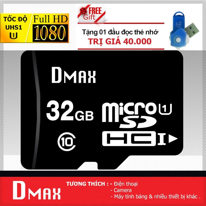 Thẻ nhớ 32GB Dmax micro SDHC Class 10 - Bảo hành 5 năm đổi mới + Tặng đầu đọc - 2732974 , 1341248426 , 322_1341248426 , 199000 , The-nho-32GB-Dmax-micro-SDHC-Class-10-Bao-hanh-5-nam-doi-moi-Tang-dau-doc-322_1341248426 , shopee.vn , Thẻ nhớ 32GB Dmax micro SDHC Class 10 - Bảo hành 5 năm đổi mới + Tặng đầu đọc