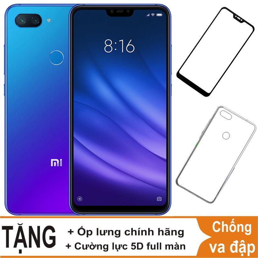 [Mã ELMT1M5 hoàn 6% đơn 1.5TR] Điện Thoại Xiaomi Mi 8 Lite, Mi8 Lite 64Gb Ram 6GB + Cường lực + Ốp lưng - Hàng Nhập Khẩu