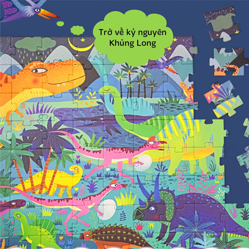 Bộ xếp hình Kỷ nguyên Khủng Long Dinosaur Age (Của Mideer, 104 chi tiết)
