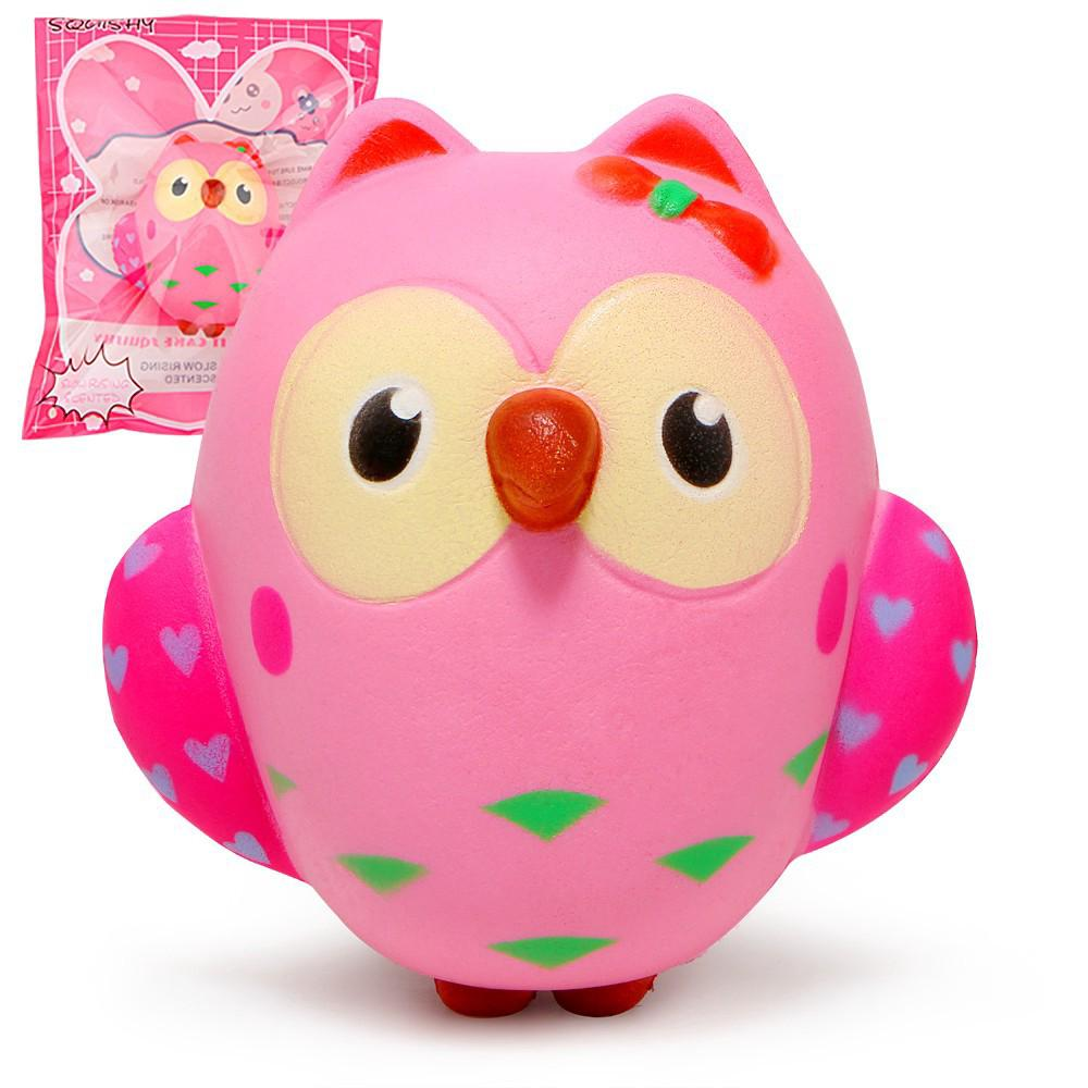 Cute Pink Owl Squishy Slow Rising Cream toy