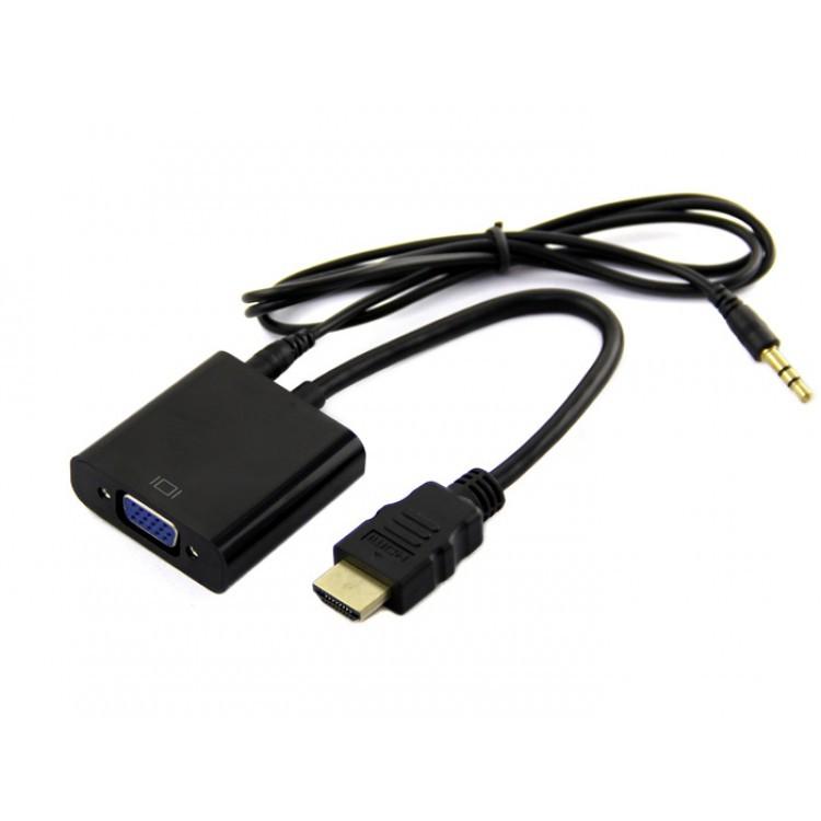 [SALE 10%] Cáp chuyển đổi HDMI ra VGA có jack audio
