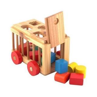 [GIÁ SỈ] Xe thả hình khối – đồ chơi giáo dục an toàn cho bé