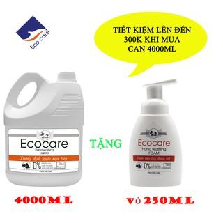 [ Ecocare] Nước rửa tay tạo bọt Hữu cơ 4000ml, Nước rửa tay diệt khuẩn tinh dầu tự nhiên thumbnail