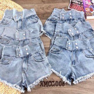 Quần short jeans lưng cao