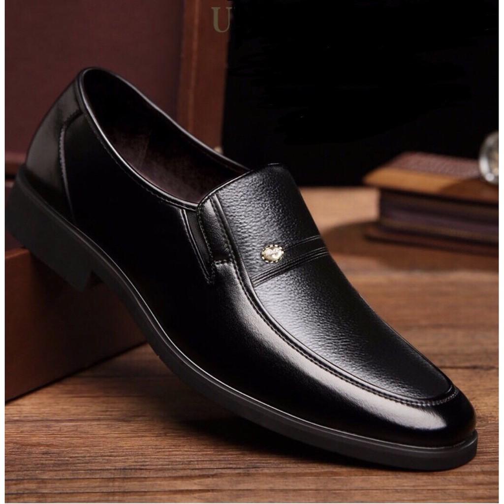 [BẢO HÀNH 1 NĂM]Giày da cao cấp trung niên