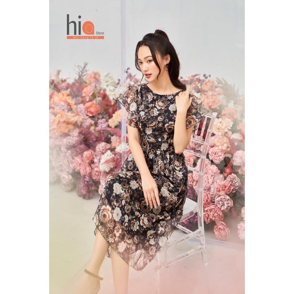 Mặc gì đẹp: Tung bay với Đầm hoa dự tiệc thiết kế dáng váy xoè kiểu sang trọng chất liệu voan tơ tay cánh tiên Hia Clothing