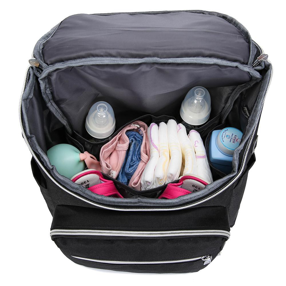 Mummy Maternity Nappy Bag with USB Interface Large Capacity Baby Diaper Bag Travel Backpack Nursing Bag