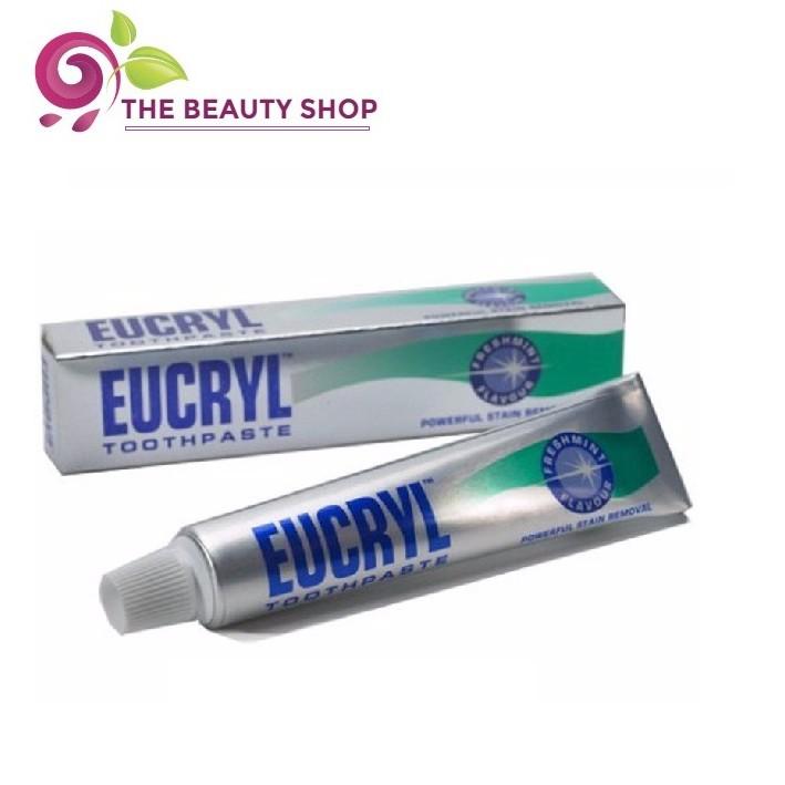 [HÀNG CÔNG TY] Kem đánh răng tẩy trắng Eucryl 62g