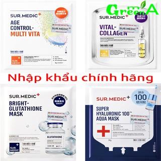 Mặt nạ SUR.MEDIC 5 Dòng Bright Glutathione/ Super Hyaluronic 100™ Aqua/ Vital-Collagen/ Age Control-Multi Vita Mask 30gr