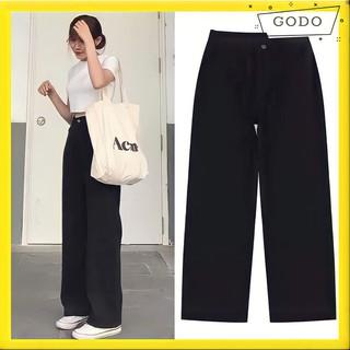 Quần Culottest Ống Suông Rộng Lưng Cao Thiết Kế 2 Kiểu Basic Dễ Mix Đồ Form Ullzang GODO CLOTHING G05