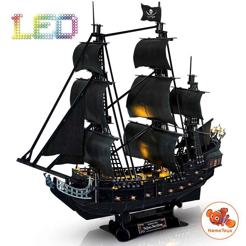 Mô hình giấy 3D CubicFun - Queen Anne revenge - T4005h