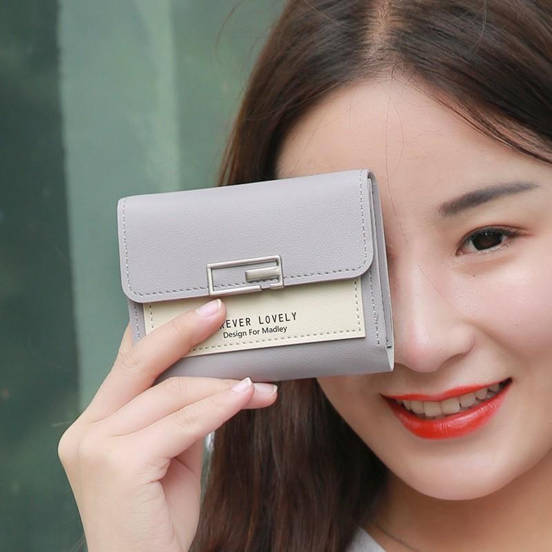 Ví nữ đẹp cầm tay mini cao cấp MADLEY nhỏ gọn bỏ túi VD220