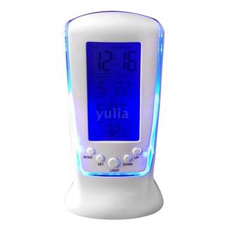 Đồng hồ để bàn kỹ thuật số LED đa chức năng xem lịch + nhiệt độ + phát nhạc + báo thức