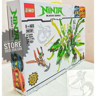 LEGO NinjaGo Lắp Ráp Robot Rồng 3 Đầu – 373 Miếng ( ZM2501 – Xanh Lá )