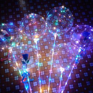 Xã hàng , combo 300 quả bóng galaxy đèn led tặng 1 ống bơm