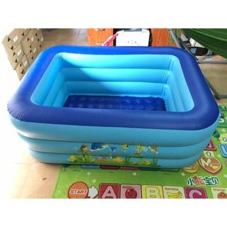 Bể bơi 3 tầng cho bé loại 130x90x55cm (full hộp) có kèm bơm điện thumbnail