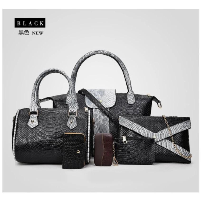Bộ set 6 túi xách ví cầm tay Cao Cấp Da Cá Sấu Korean Style (Black Diamond) Giá Sock... - 3613789 , 1000451931 , 322_1000451931 , 1300000 , Bo-set-6-tui-xach-vi-cam-tay-Cao-Cap-Da-Ca-Sau-Korean-Style-Black-Diamond-Gia-Sock...-322_1000451931 , shopee.vn , Bộ set 6 túi xách ví cầm tay Cao Cấp Da Cá Sấu Korean Style (Black Diamond) Giá Sock...