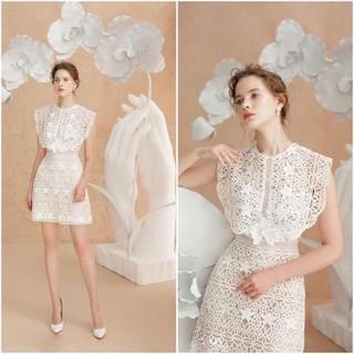 Đầm dự tiệc cao cấp/ đầm ren trắng Ami