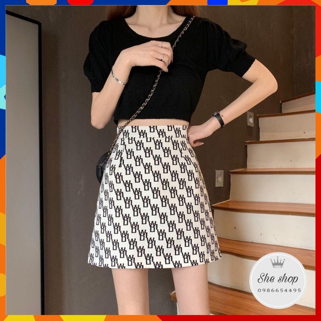 Chân váy chữ A, chân váy ngắn chất thô mềm chuẩn form dáng