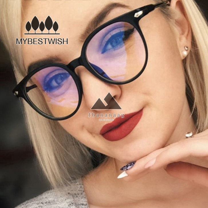 แว่นตากันแดดป้องกันรังสียูวีสีฟ้าสำหรับสตรี