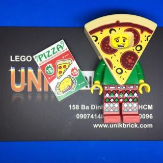 Lego UNIK BRICK Pizza Suit Guy Anh chàng bánh Pizza trong Minifigures Series 19 chính hãng (như hình).