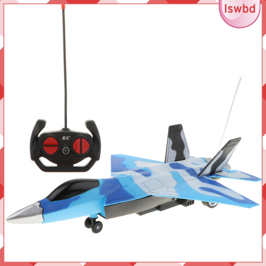 Four-tunnel Remote Controlled Aircraft RC Toy Fighter Plane Model with Music Light Children Birthday Gifts