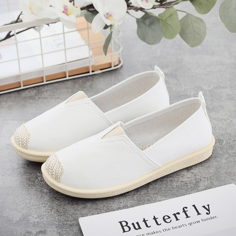 Giày lười vải Nữ dễ thương cao cấp (đế cao su+ may chắc chắn) | SaleOff247