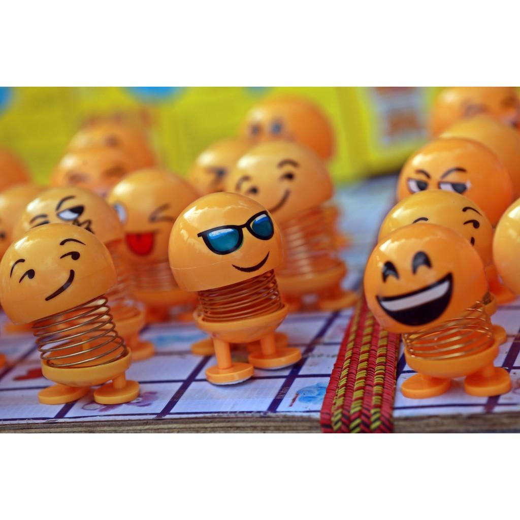 thú nhún lò xo emoji cảm xúc vui vẻ ngộ nghĩnh 5×7.5cm