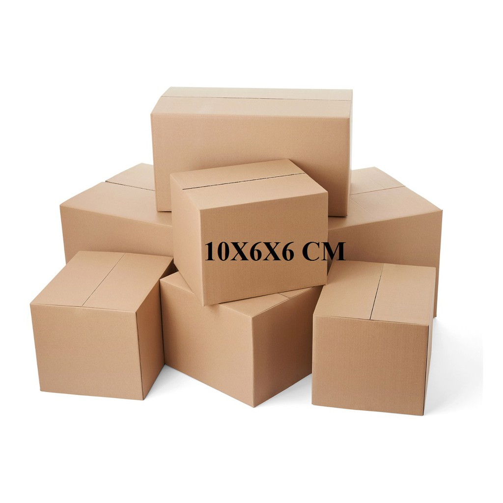 Thùng carton size 10x6x6 cm Bộ 20 Hộp