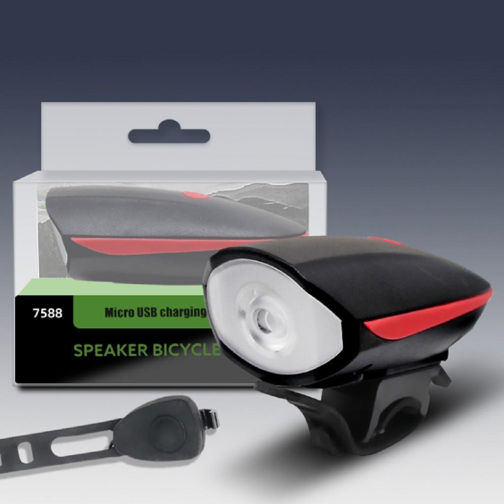 Đèn Xe Đạp Có Còi   Đèn Hậu Sạc USB BS216, Đèn Hậu Xe Đạp HYD186 Nháy 2 Màu Xanh/Đỏ