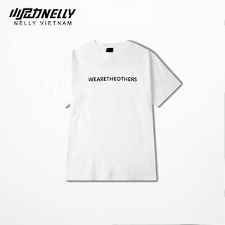 Áo thun tay lỡ NELLY cotton 4 chiều dáng unisex in hình wearetheother mã N0131 thumbnail