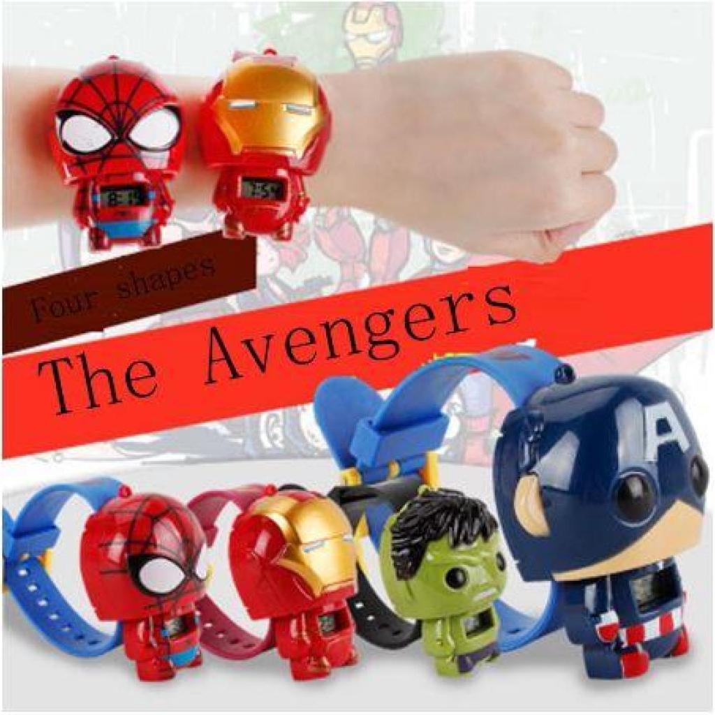 นาฬิกาข้อมือเด็กลายการ์ตูน Avengers Captain America, Hulk, Ironman, Spidermanาฬิกาข้อมือเด็กลายการ์ตูน Avengers Captain