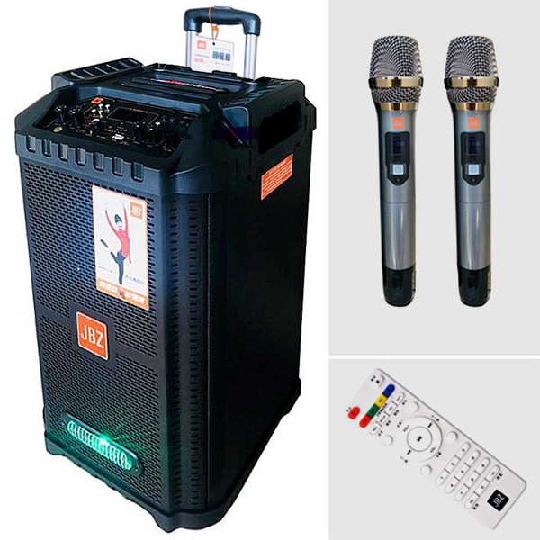[TẶNG 2 MICRO] Loa kéo karaoke JBZ 0806 hát karaoke gia đình, tiệc dã ngoại ngoài trời,âm thanh tuyệt vời bảo hành 12th